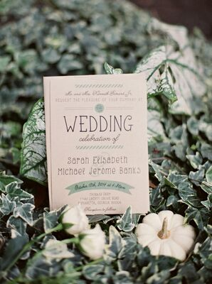 Kraft Paper Invitations with Sage Accents