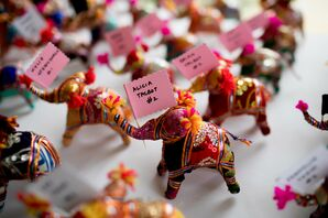 Indian-Inspired Mini-Elephant Place Cards