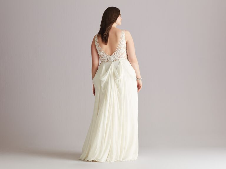 bow bustle wedding dress
