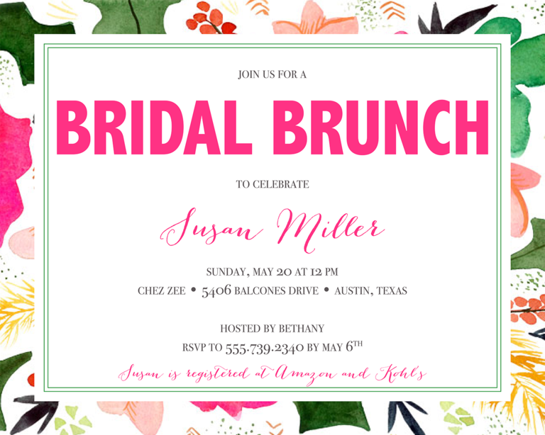 Bridal shower invitation wording ideas and etiquette bridal shower invitation wording ideas stopboris Gallery