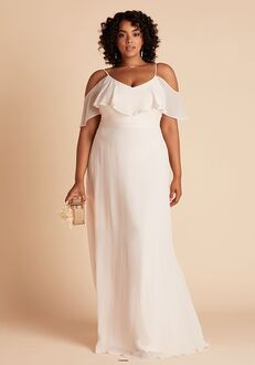 Birdy Grey Jane Convertible Dress Curve in Champagne V-Neck Bridesmaid Dress