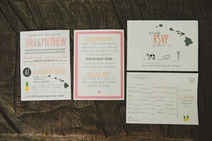 Illustrated Custom Wedding Invitations