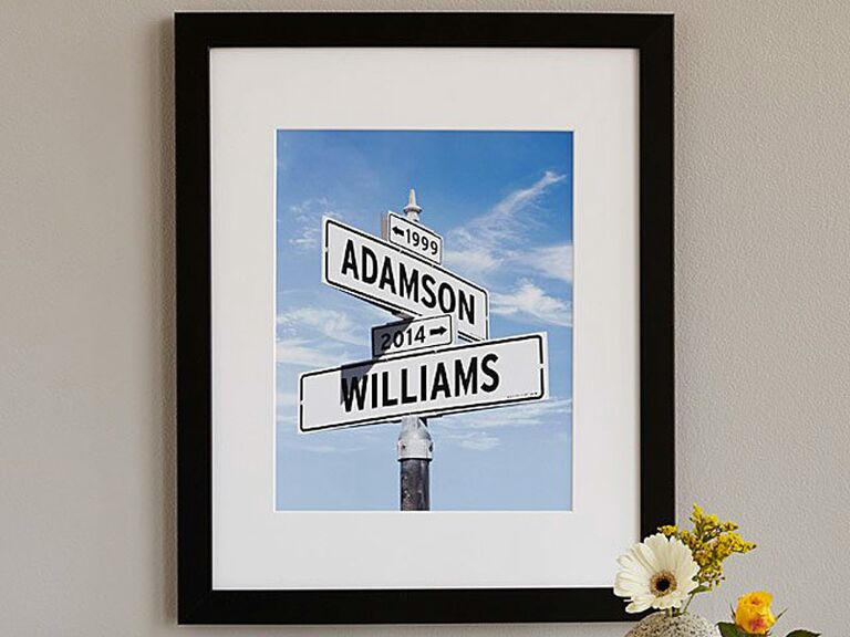 Street Sign Wall Art Engaged Friend Gift