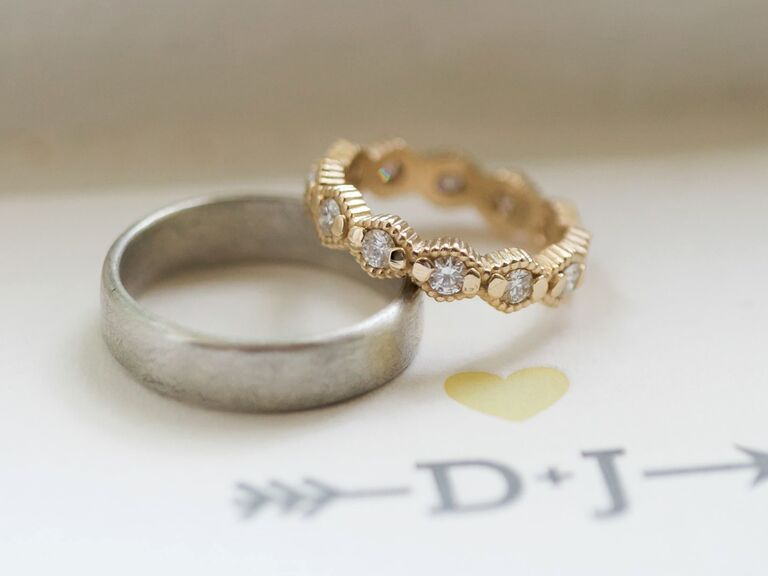 Mismatched wedding bands