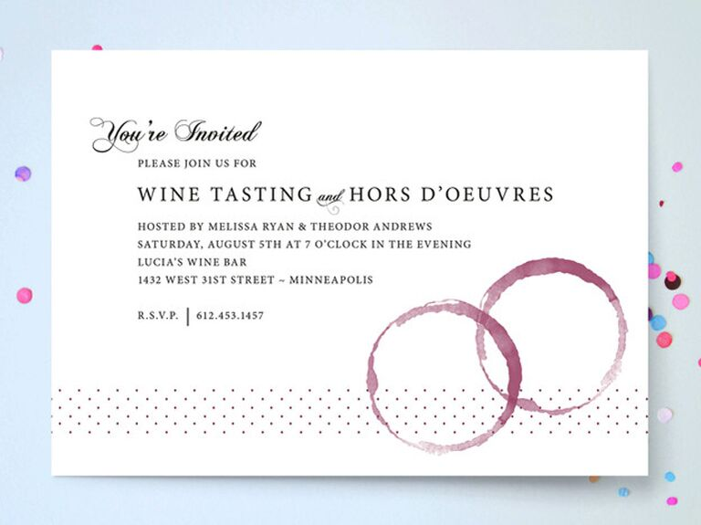 Wine tasting invitation from Minted