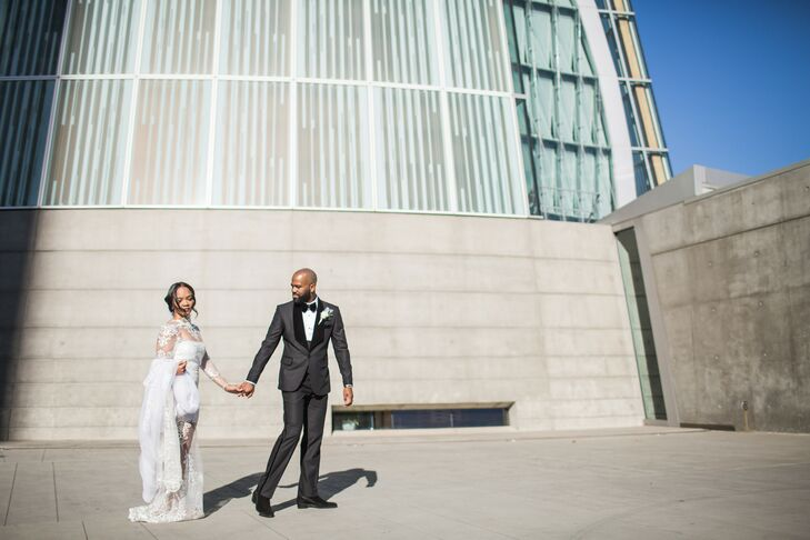 For newlyweds Myisha Chapple (35 and a brand marketing manager) and Armon Moore (32 and a creative director), staying true to their personal brand was