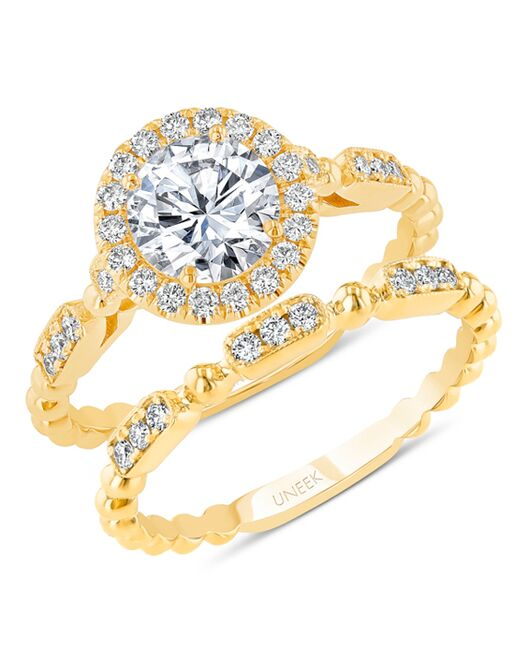 Uneek Fine Jewelry SWUS837B Gold Wedding Ring