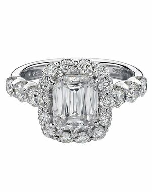 Christopher Designs Emerald Cut Engagement Ring