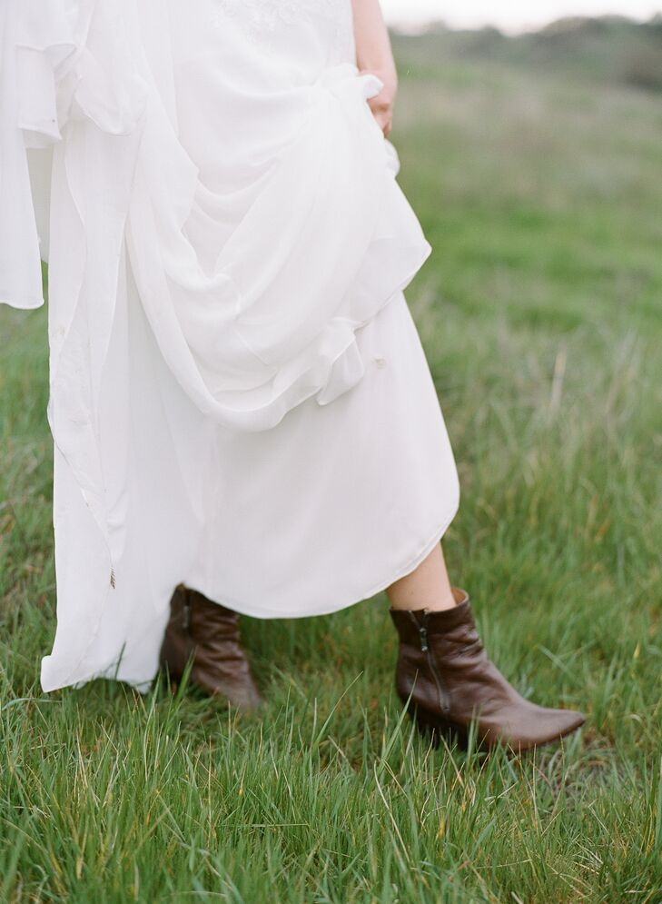 Brown Bridal Booties
