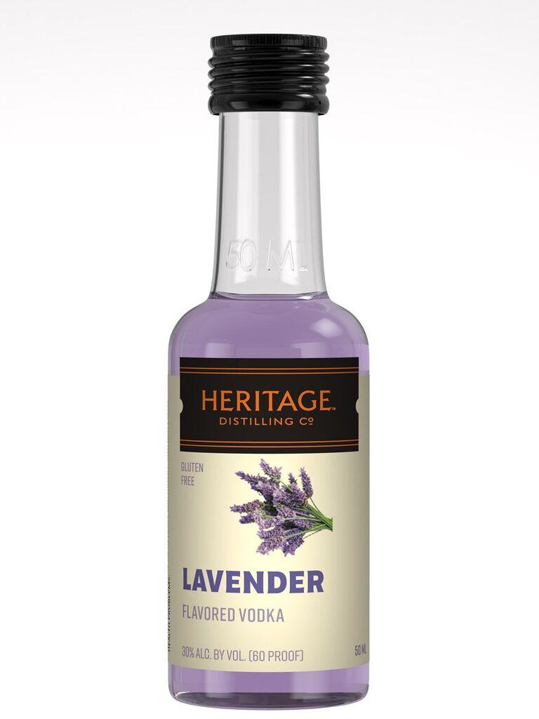 Mini lavender vodka unique wedding favor