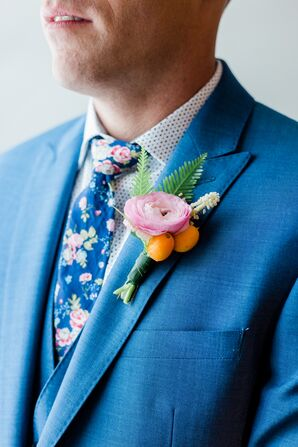Ranunculus and Kumquat Boutonniere