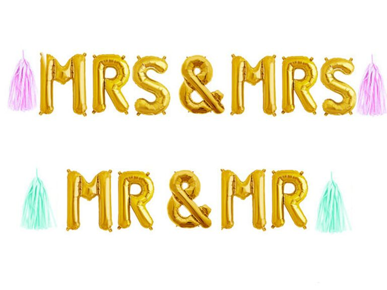 Joint bach party mrs mrs mr mr balloons