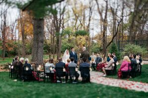 Rose-Petal-Lined Aisle and Outdoor Ceremony