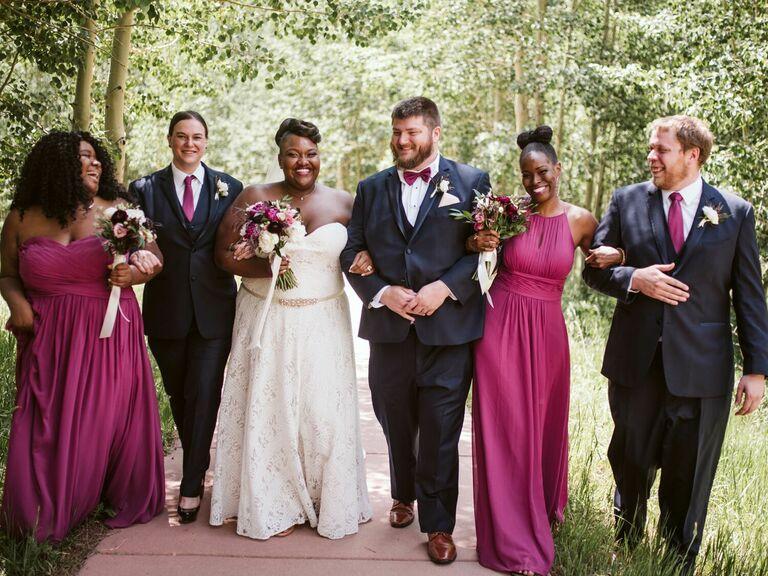 Bridesmaid updos bow bun