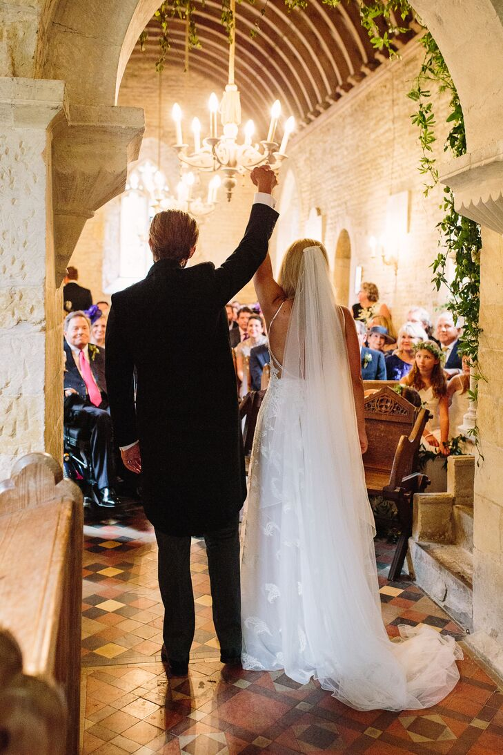 Couple at Wedding Ceremony in Historic English Church