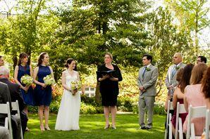 Meridian House Outdoor Wedding Ceremony