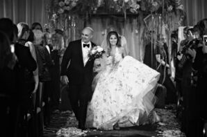 Formal Bride and Groom Recessing from Jewish Ceremony