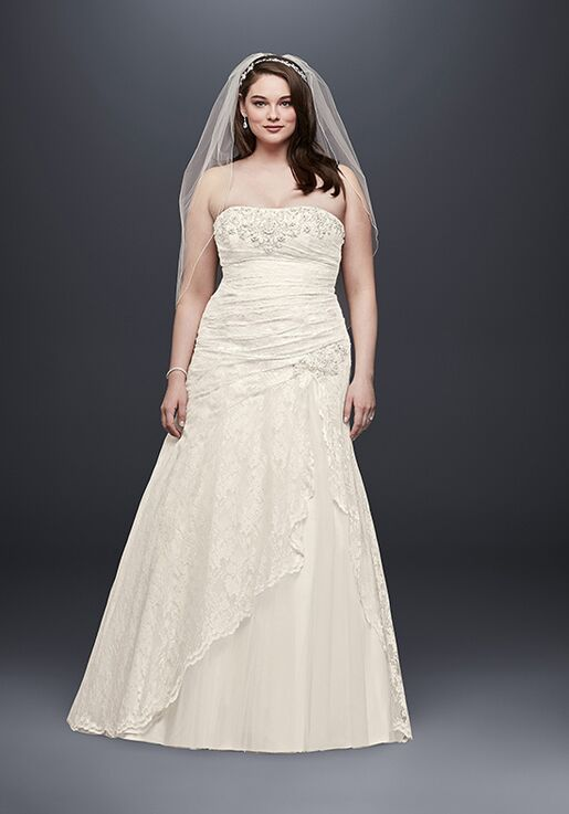 David\'s Bridal David\'s Bridal Collection Style 9YP3344 Wedding Dress ...