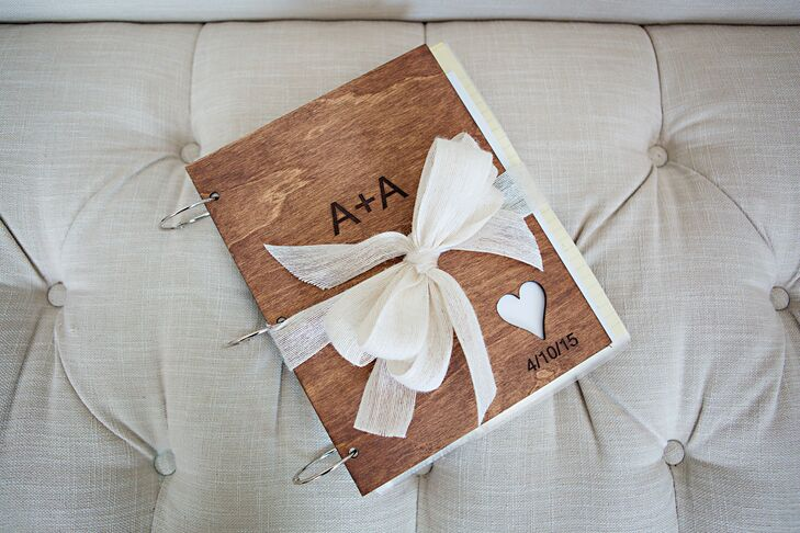 Handcrafted Wooden Guest Book