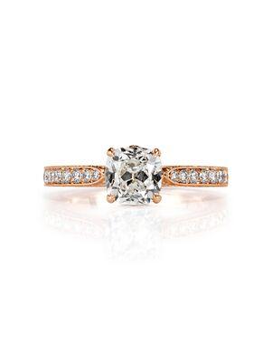 Mark Broumand Vintage Cushion Cut Engagement Ring
