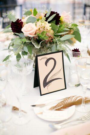 Bohemian Calligraphy Wedding Table Numbers