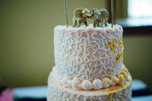Blush Cake, Elephant Cake Topper