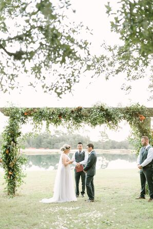 Ceremony Altar Wrapped in Greenery