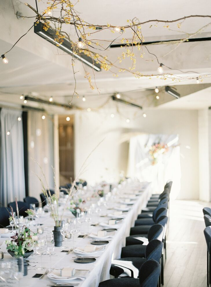 Modern Reception with Natural Elements