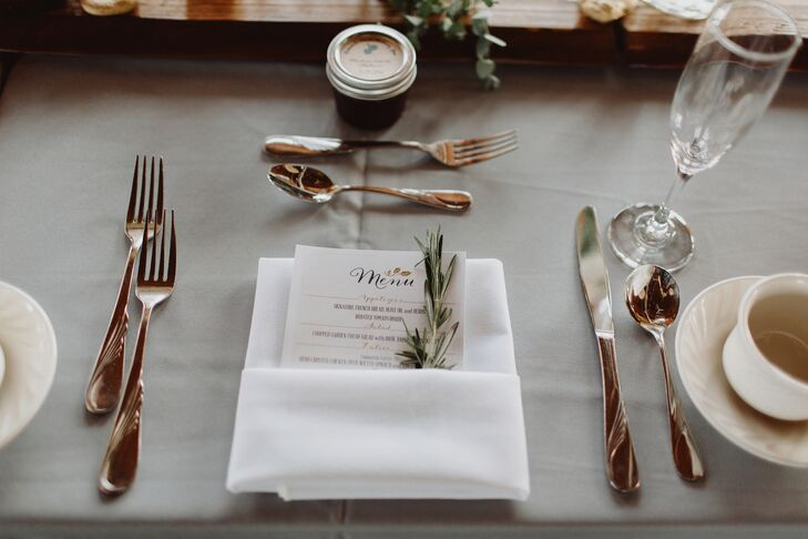 Rosemary-Accented Menu Cards