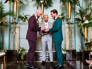 Modern Same-Sex Ceremony at The Green Room in San Francisco