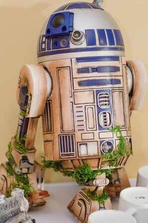 R2-D2 Decor at Star Wars-Themed Wedding