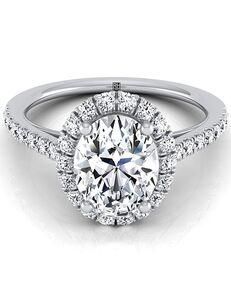 RockHer Elegant Oval Cut Engagement Ring