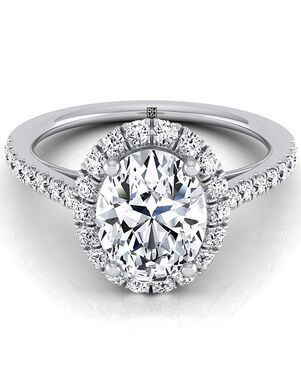 RockHer Elegant Oval Cut Engagement Ring
