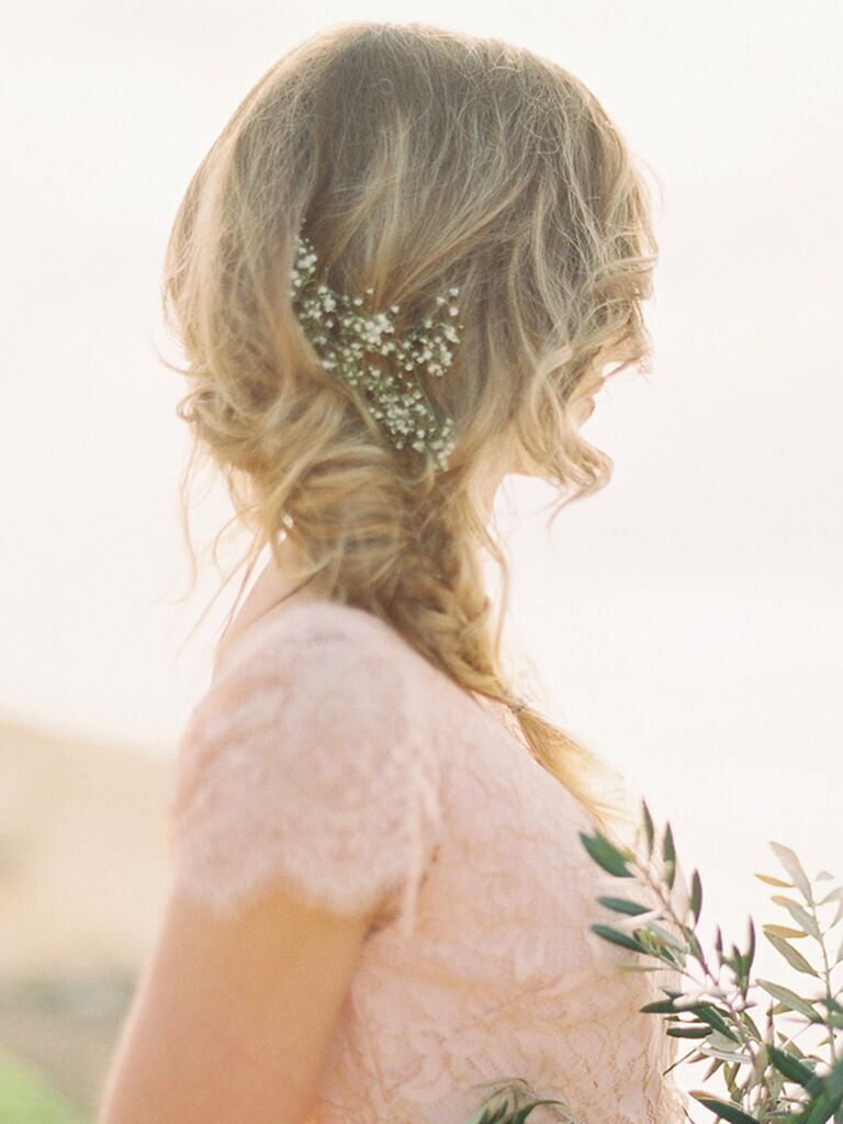 Whimsical Boho Bridesmaid Hair With A Fishtail Braid