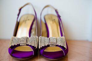 Purple Peep-Toe Shoes