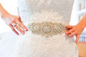 Beaded Bridal Gown Belt