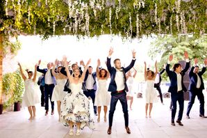 "Bridal Party Grand Entrance to ""Uptown Funk"""