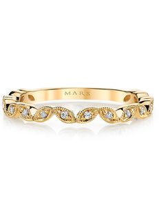 MARS Fine Jewelry MARS Jewelry 26692 Wedding Band Gold, Rose Gold Wedding Ring