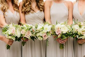 Elegant Bouquets of Roses and Greenery