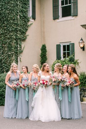 Slate Blue Convertible Jenny Yoo Bridesmaid Dresses