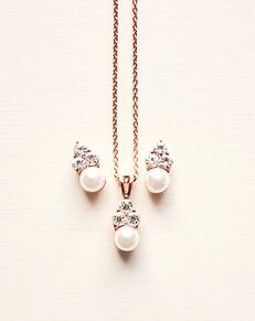 Dareth Colburn Pretty Pearl Drop Pendant Set (JS-509) Wedding Necklace photo