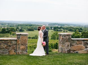 When Kathryn Andricosky (28 and a teacher) and Adam Smith (32 and works in government) saw the views at Bluemont Vineyard in Bluemont, Virginia, they