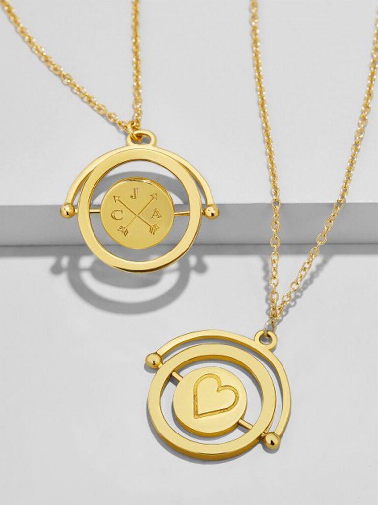 engraved pendulum pendant