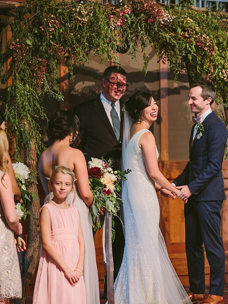 Spruce up your church ceremony with a flower and fall inspired arch
