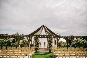 Rustic Outdoor Ceremony Site at Garden Gables