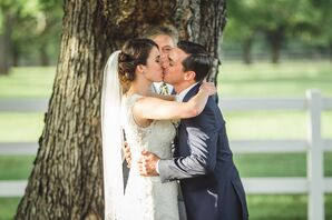 Erika and Jake's First Kiss at Inn at Warner Hall