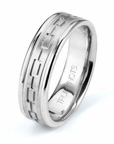 TRUE KNOTS True Man - 578DCW Palladium, Platinum, White Gold Wedding Ring