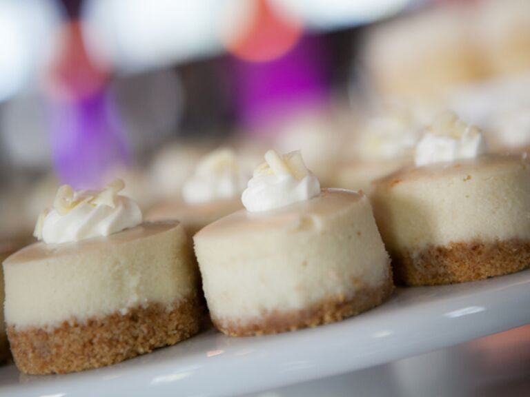 How To Serve Cheesecake At A Wedding| Kelly Brown Weddings | blog.TheKnot.com