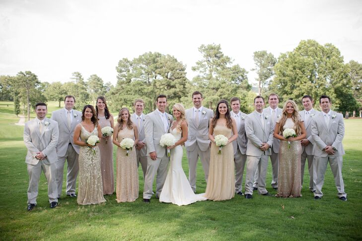 Light Gray And Champagne Groomsmen Look