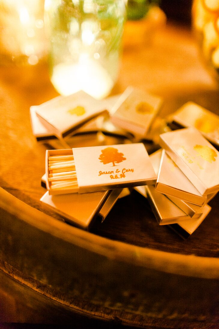 Custom Matchbox Favors